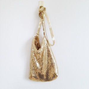 Talbots Gold Sequence Mini Party Bag Purse Clutch